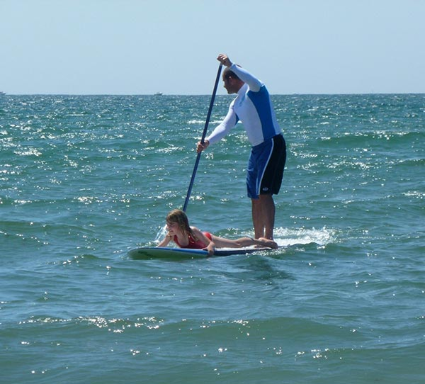 father daughter paddle session
