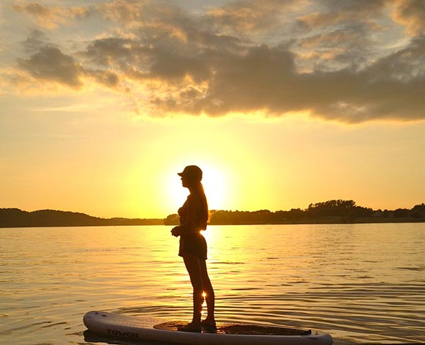 golden sunset sup session
