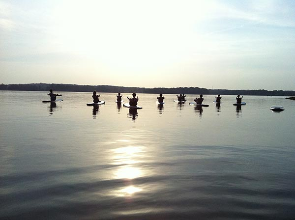 group sup yoga session