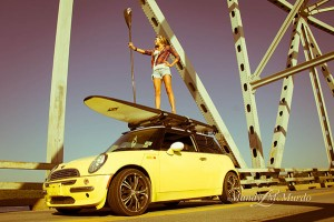 jodelle on top of car and sup