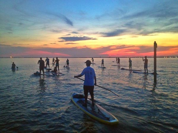 paddle group sunset session