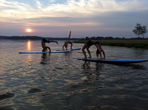 pre dawn sup yoga session