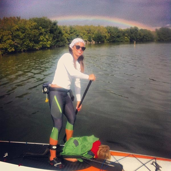 rainbow paddling session