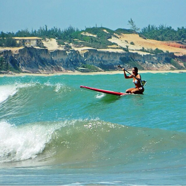 Larissa Castro: Madeiro's Beach, RN, Brazil, summer 2014, doing what she loves!