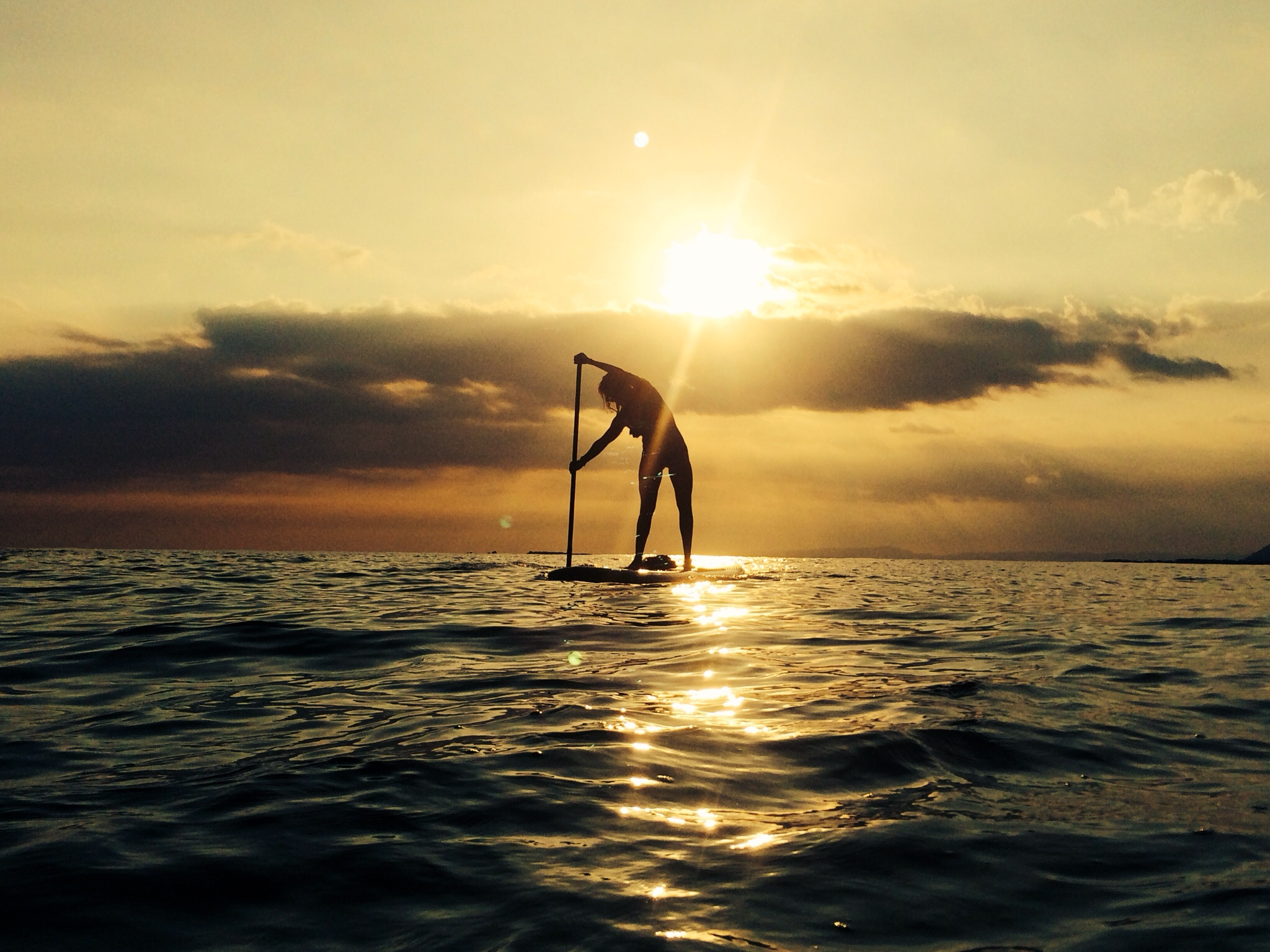 Melisa Rivera: SUP makes me so happy, sunrays cross my heart...Ponce, PUERTO RICO