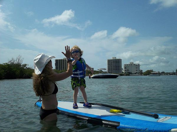 Suzanne Pomeroy First solo paddle with Grandma-Coral Cove, Jupiter Florida