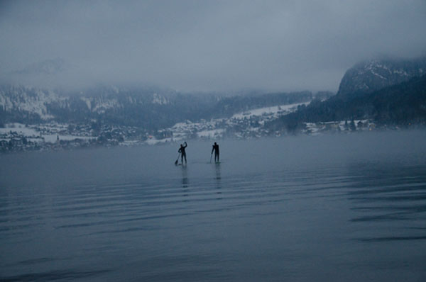Mister JECKYBENG:FREEZING Out on the water in February. -15 degrees outdoor temperature, 0 degrees water temperature. (Wolfgangsee, Austria)