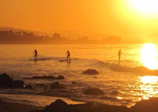 By: Jim McManus Morning Glow! Unknown paddlers in Santa Barbara , CA. Taken in fall of. 3013.