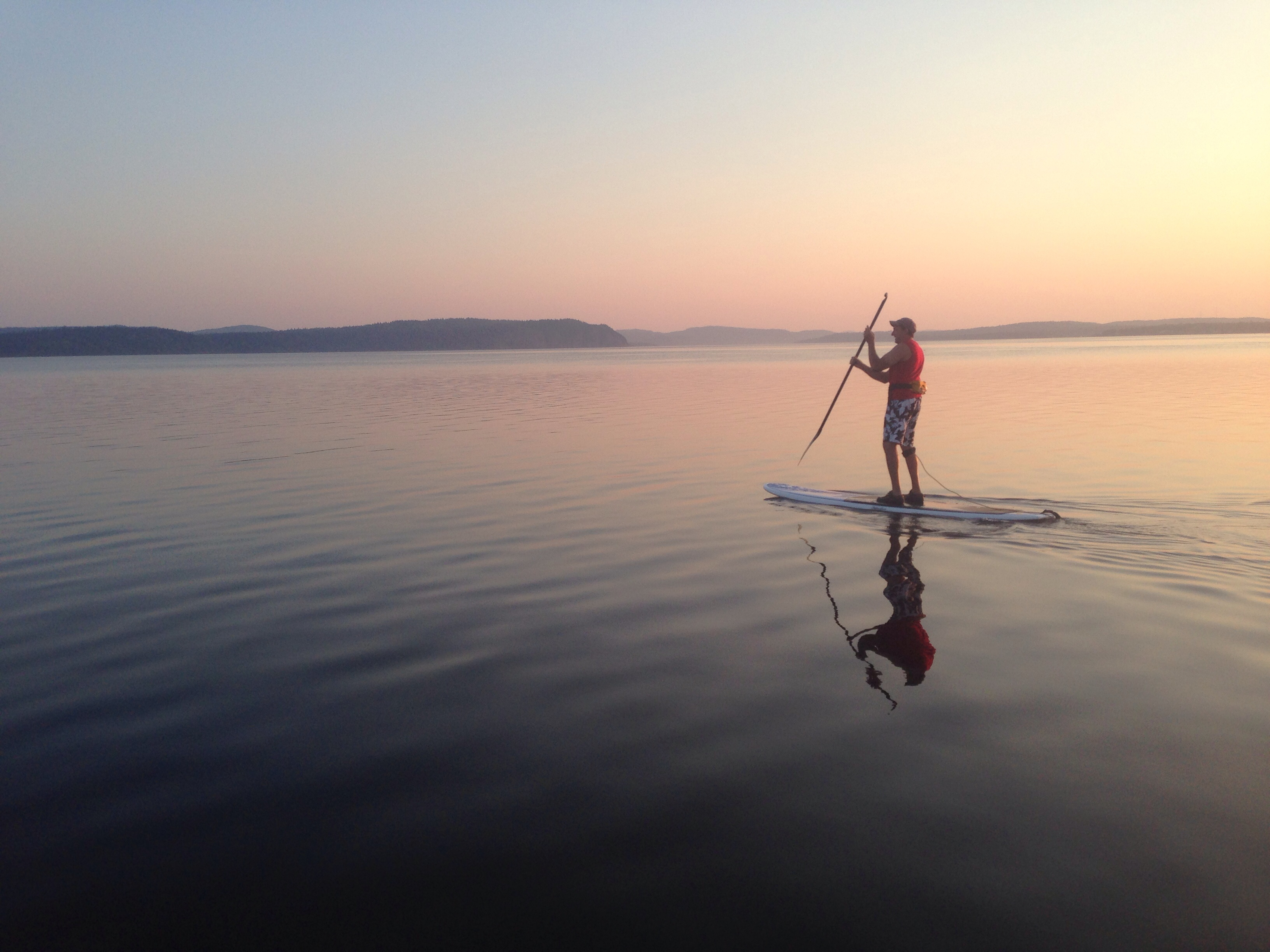 First time paddling! Early morning on the Kennebecasis river New Brunswick Canada