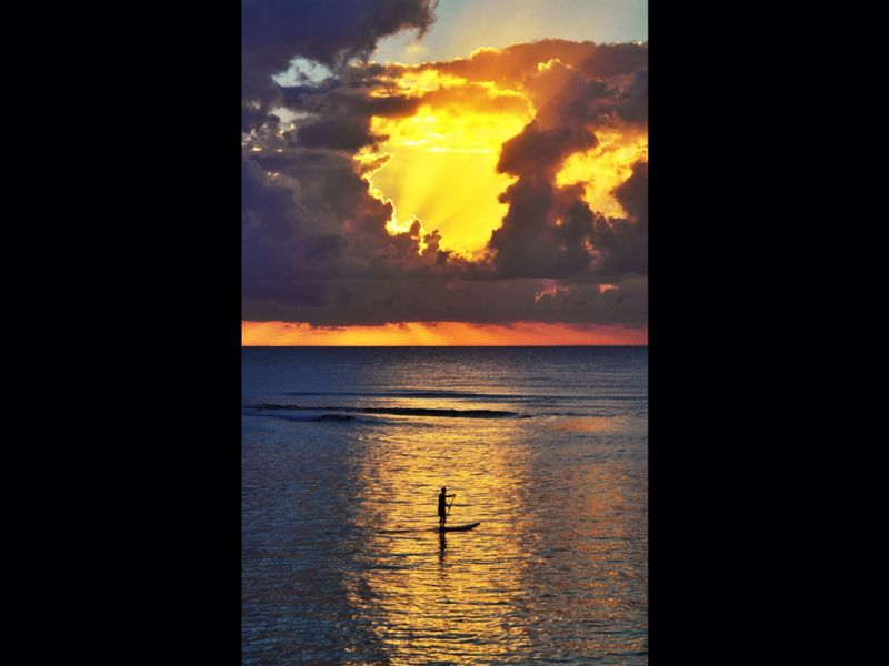 Doug Millar: God's gift on a Christmas morning in Mexico Sunrise on Christmas morning in Paamul Mx. a small beach south of Playa Del Carmen.