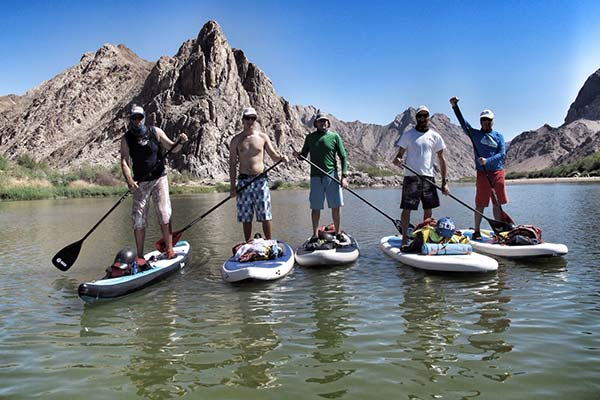 Guy Bubb: 1st Orange River Sup group, in the South African And Namibian border