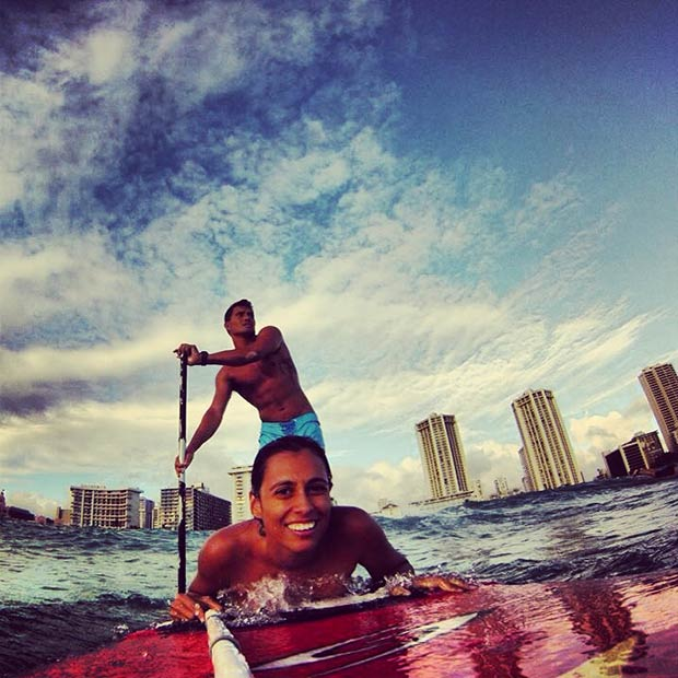 Hana Chicou: All u need in life is Love and SUP #tahitianlovers #SUPlovers