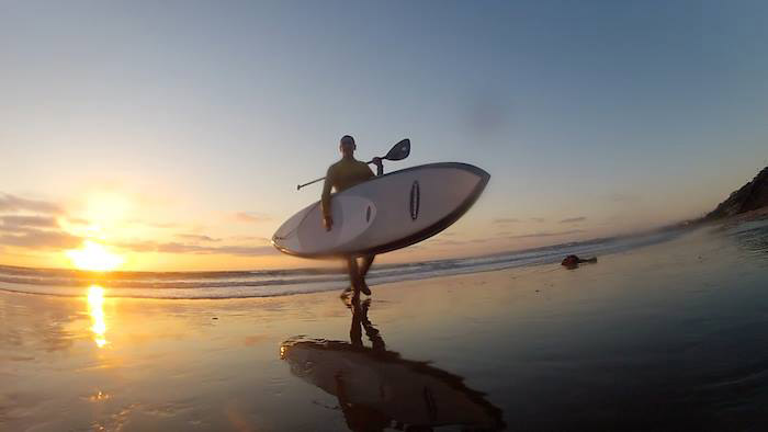 Renan Alves: End of a SUPer Day with friends in SoCal ... Malaga Cove - RAT Beach (Image by Roland Baker)