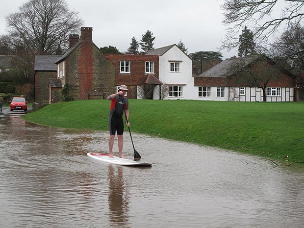 Roger Fairbairn: England during the floods in January.