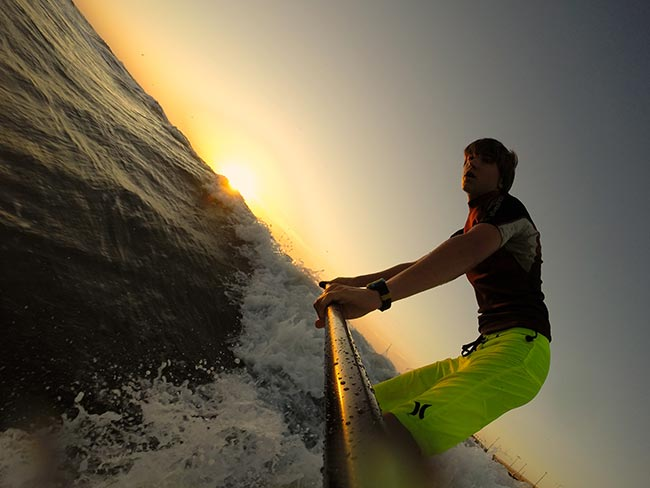 Tyler Tschritter: Choppy texas sunrise session