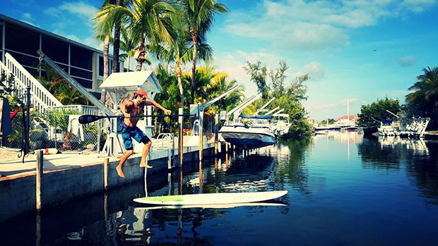 Brad algar: Paddleboarding is what we do in the Florida Keys. And yes...I landed perfectly.