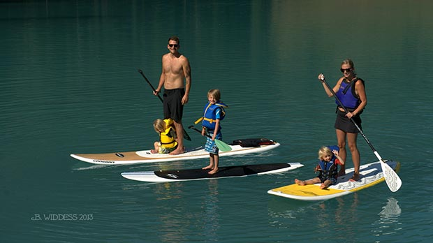 Brenda Widdess: First time this family was SUPing together and they asked if I wouldn't mind taking their photo. Emerald Lake is gorgeous and is located in Yoho National Park in British Columbia, Canada.