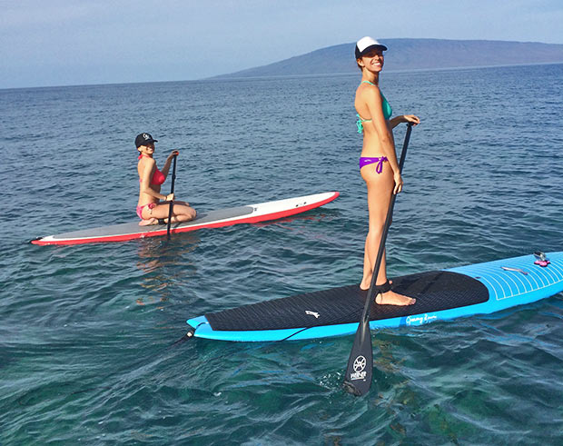 Julie Shebroe: The only way to learn is to get out there and try! Teaching a visitor to Maui from the mainland how to SUP and now she just can't get enough!
