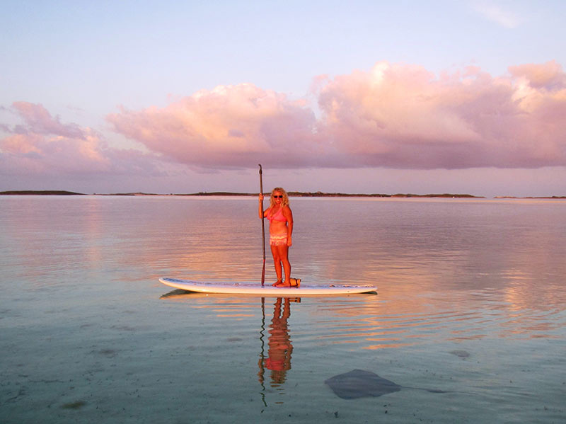 Paige Bakhaus: Meeting a new friend at sunset in Exuma, Bahamas. April, 2014