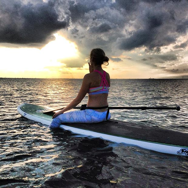 Paige Smiley: An amazing sunset sup yoga session ended with watching the storms roll in. It's moments like these that remind us our world is a beautiful place, to take a second, a tiny fraction of time, and take it all in. Lake Hefner, Oklahoma City, OK