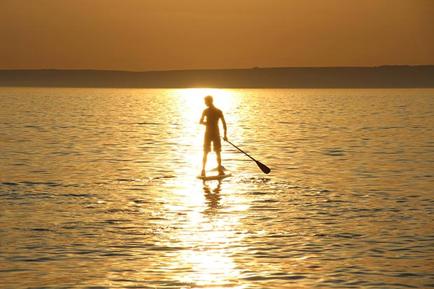 Rob Williams Golden SUP moment - myself (pictured) taken by Dad, early evening family paddle, 17th May '14, South West UK and I think it should be considered for entry as this is what paddling feels like to me every time I go out even if it may not necessarily always look that way in the UK!