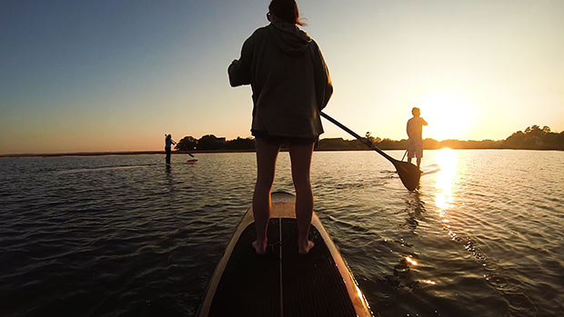 Tucker Mason Family sunset paddle in Clark Sound, Charleston, SC