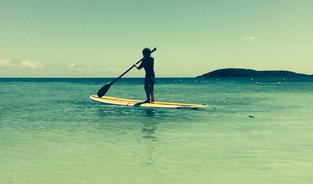 Wade Tobias: A perfect SUP Day with my son Ari. A young paddler who loves to SUP.