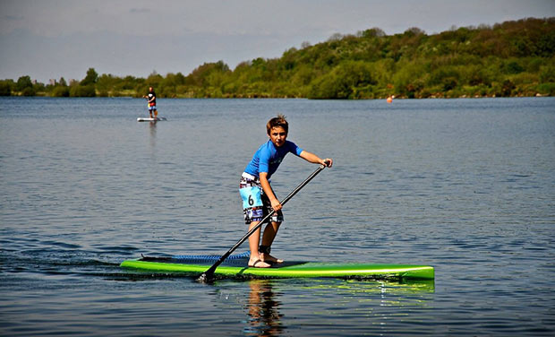 Zac Wharton Luke smashing it at UK sup clubs race