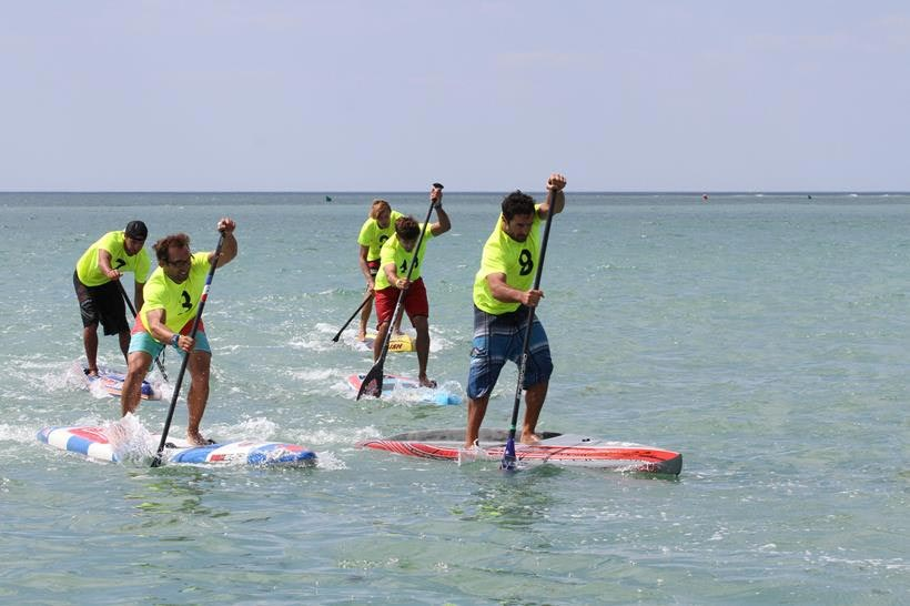 Beau O'Brian steps up on Day 2 of the Oleron Island Paddle Challenge