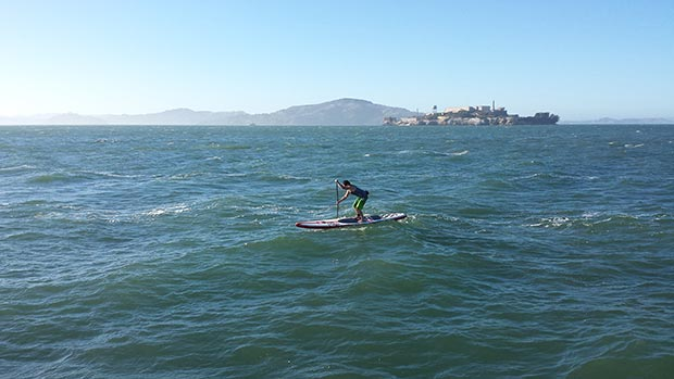 Drew Pador: After work paddle on the bay.