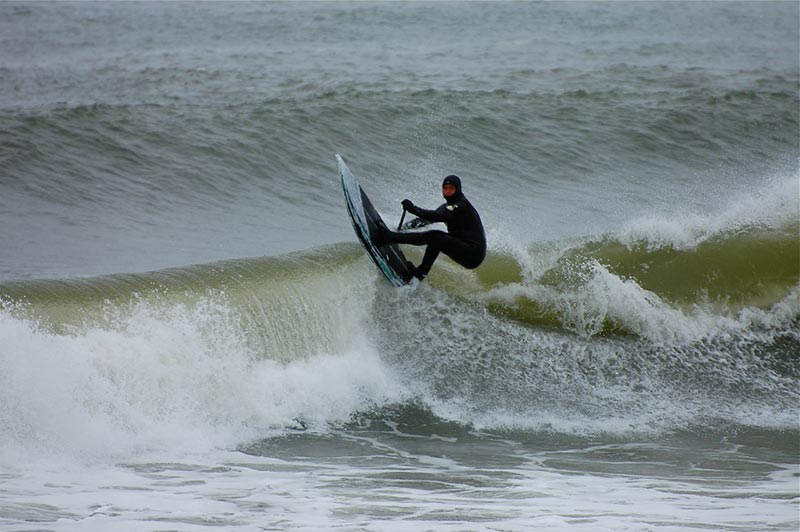 david harmon Cape Cod late winter swell with Brendan McCray grinding out the season!