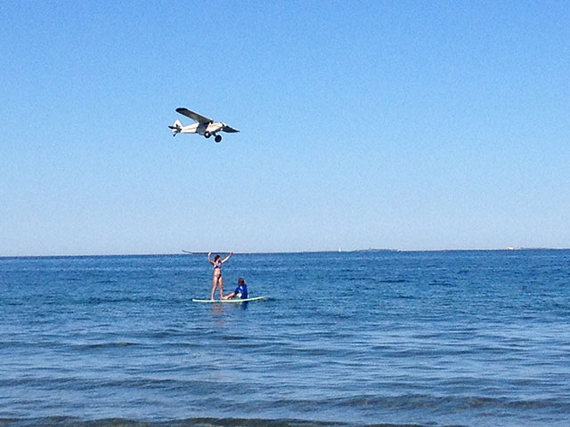 Chris Grippo: Lazy Dayz of Summer. SUP reaches new heights, watch out for low flying aircraft!