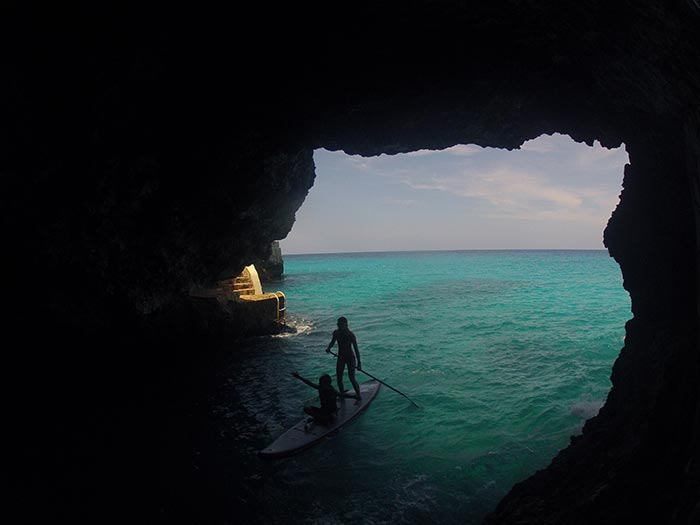 EVey Hammond: Pirate Treasure Hunting in the caves. Negril, Jamaica
