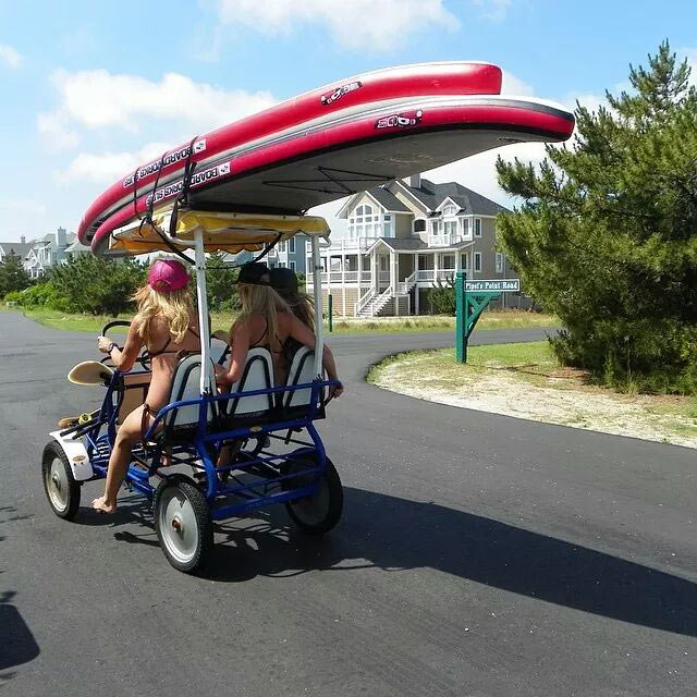 Jackie Miller: Taking a ridein the outter banks on the SupSurrey!!