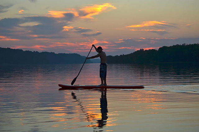Jake Soll: Jake Soll on the Mississippi in Dubuque, Ia. Photo was taken in mid July by Kip Hoffman from Big River Sup
