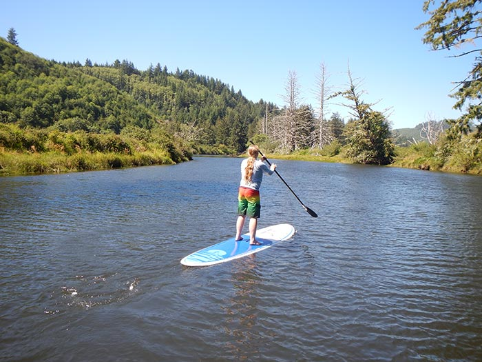 James Call: My son {Chandler} and I have found a nice un-crowded place to do our paddling.