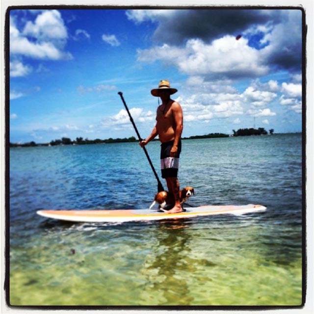 Jimmy Rodriguez: Paddling in beautiful Sarasota, Fl. with my beagle Lucky. True Paradise!