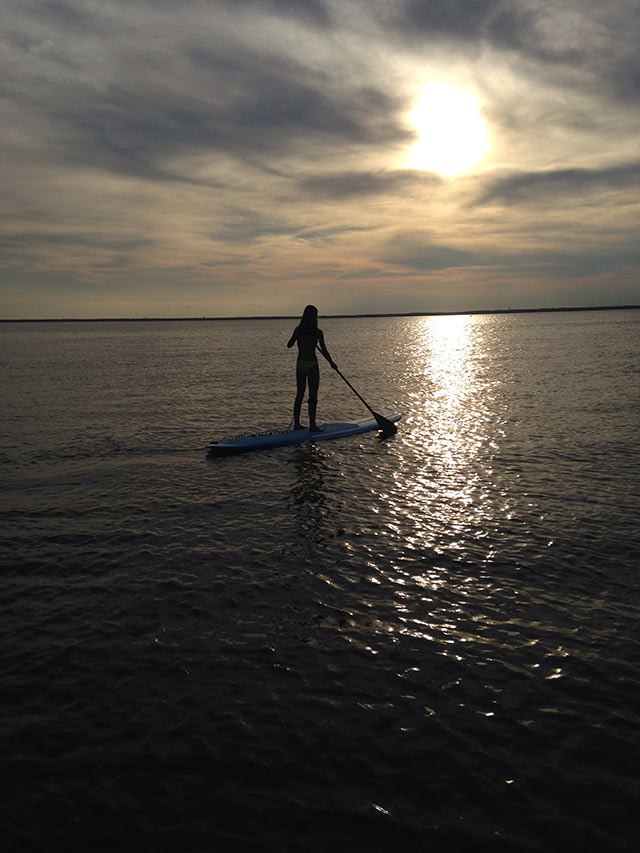 "Matt Mark: ""Heading Out"" - sunset paddle with my daughter, Long Beach Island NJ, June 28th. This shot reminds me of what I love about paddling - the ability to step off land and into the rest of the world."