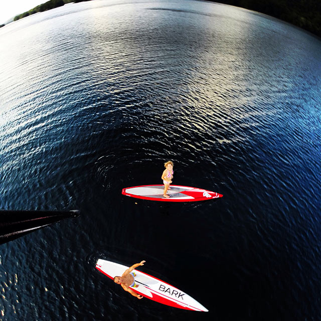Simon Lebrun: Nothing like this beautiful lake between Montreal and Ottawa to get us SUP excited