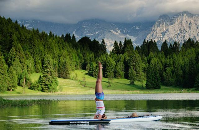 Sonnia Hoffken: SUP Yoga in the Bavarian Alpes