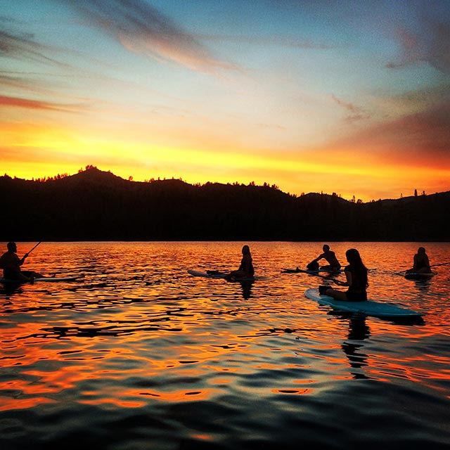 """Brett Gibson: Takin' a break at Sunset before the """"SUPERMOON"""" Paddle"""