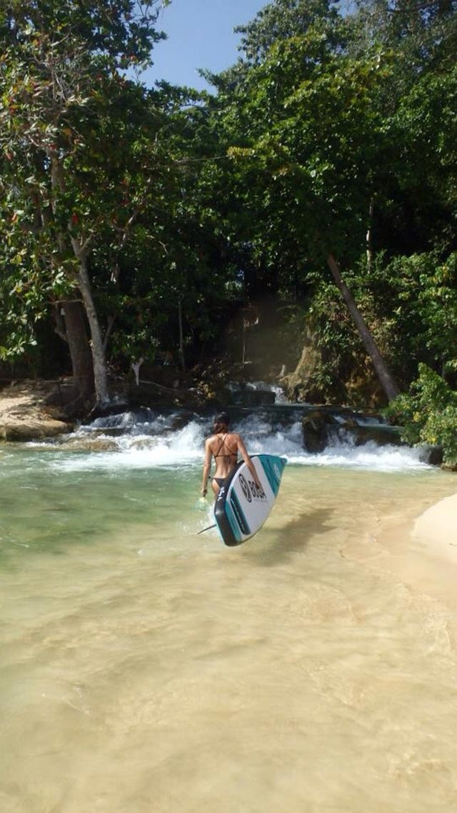 Cat Uden: I love having a waterfall all to myself. Jamaica