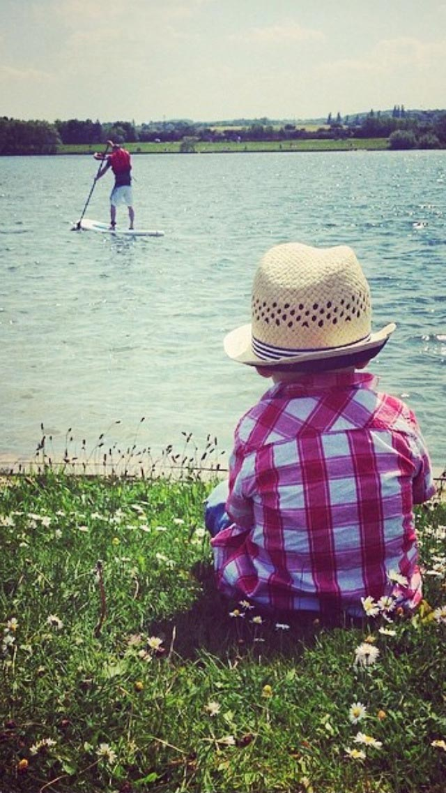 Dan Williams: Field of dreams My son, Bear, gazing out over the lake in the summer! Wakefield, West Yorkshire, UK