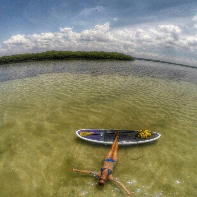 Elaina Franklin: In my happy place! Taking a break after a long paddle - Clearwater Florida