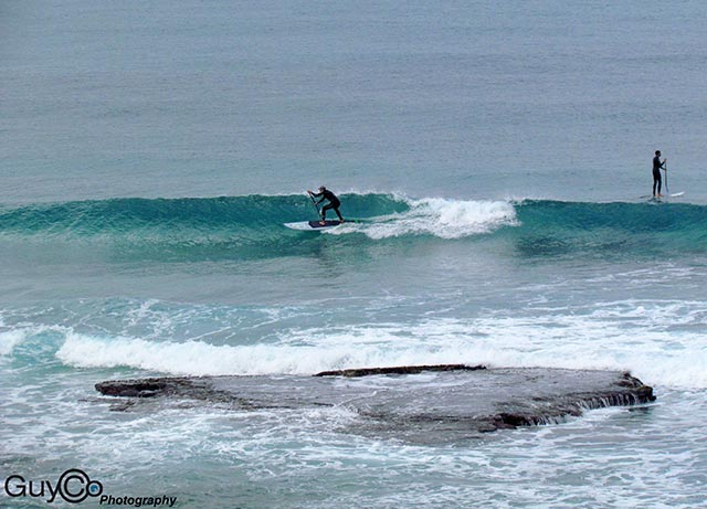 Guy Cohen: November 9th 2013, Palmachim beach, Israel. Local SUP surfers enjoying the clean and cold waves at the beginning of the winter.