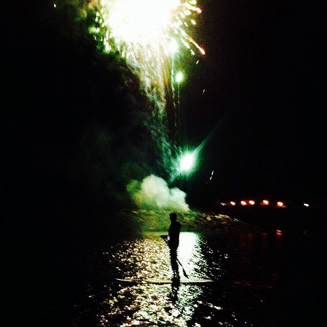 Guy Russell: Sup under the fireworks with Jurassic paddle sports at Sidmouth folk festival