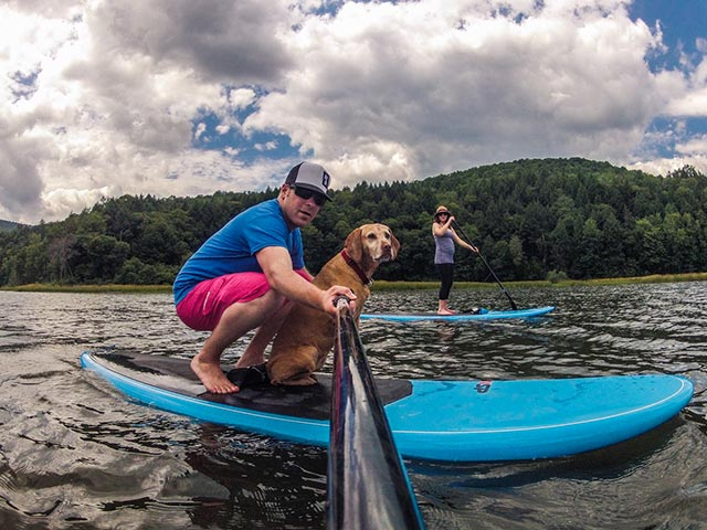 Mike Hitelman: Family Paddle…Never a bad day for a family paddle with my pregnant wife, Andrea and our 11 year old Viszla, Peggy. Waterbury Reservoir, Stowe, Vermont Standup Paddling is awesome and it's such a great family adventure, grab your kids, your wife and your pets and go for a paddle. Nothing better than spending time outside.