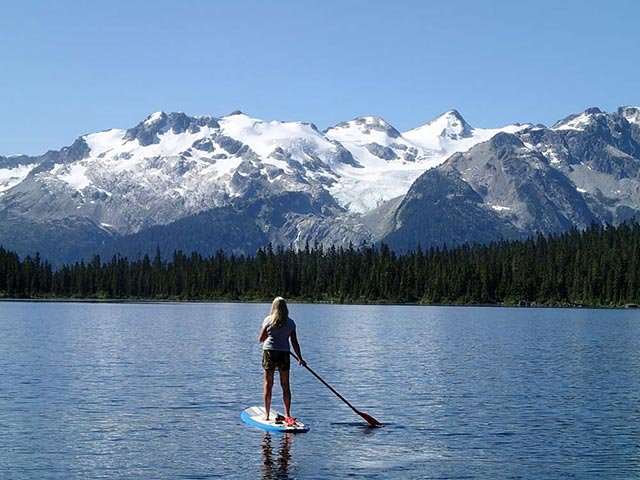 Mitchell Sulkers: Morning paddle on Callaghan Lake. Beating the valley heat...