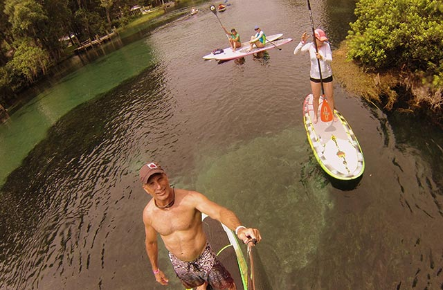 Ron DuBois: SUPing the Rainbow River springfed waters of central Florida. One of the most beautiful excursions we've ever taken.