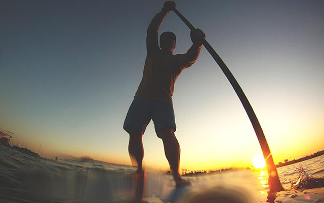 William Hauser: Sunset session in Alamitos Bay, Long Beach, CA